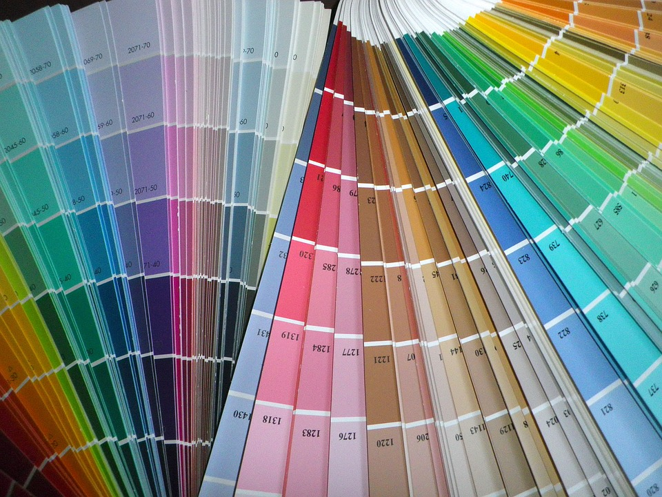 Swatches for choosing paint colour